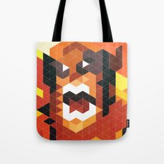 Geometric Wolverine Tote Bag
