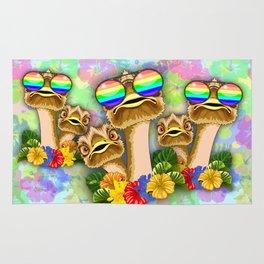 Ostrich Hawaii Fashion Funny Dudes Rug