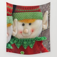 elf Wall Tapestries featuring Ginger Elf by IowaShots