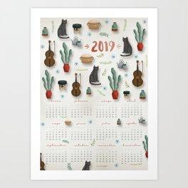 "Calendario 2019 ""Hogar"" Art Print"
