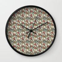 internet Wall Clocks featuring Internet Wallpaper by Matt Hunsberger