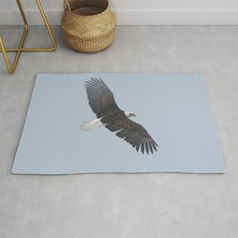 Soaring - Bald Eagle and Blue Sky Rug