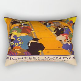 Vintage poster - Brightest London Rectangular Pillow