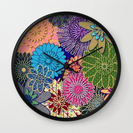 Flower Garden Too Wall Clock