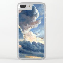 Simon Alexandre Clément Denis Study of Clouds with a Sunset near Rome Clear iPhone Case