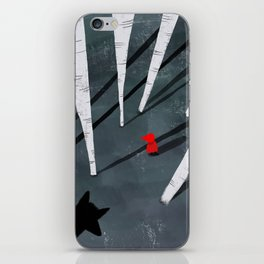 Red Riding Hood and the wolf iPhone Skin