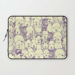 just alpacas purple cream Laptop Sleeve