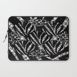 Black&Silver Abstract Bling Pattern  Laptop Sleeve
