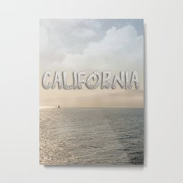 California Santa Monica Beach Metal Print