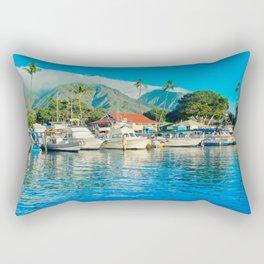 Lāhainā Marina Sunset Maui Hawaii Rectangular Pillow