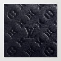 lv Canvas Prints featuring Black LV by I Love Decor