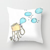 hippy Throw Pillows featuring Hippy Jelly. by Devin
