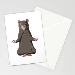 Meditate Rat  Stationery Cards