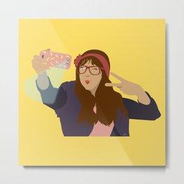Selfie Love Metal Print
