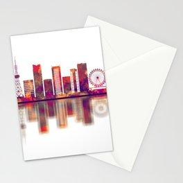Nagoya Japan Skyline Stationery Cards