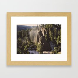 Bend in the Canyon Framed Art Print