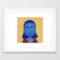 et Framed Art Prints featuring ET by Mille Kurowsky