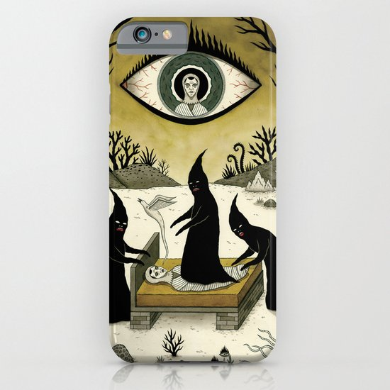 Three Shadow People Terrify a Victim During an Episode of Sleep Paralysis iPhone & iPod Case