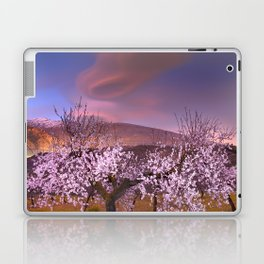 Lenticular clouds over Almond trees Laptop & iPad Skin
