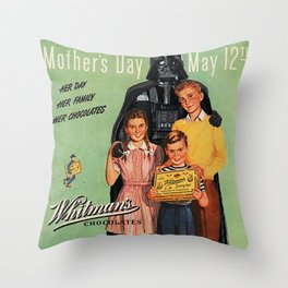 DARTH VADER CELEBRATES MOTHER'S DAY Throw Pillow