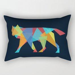Wolf Geometric Rectangular Pillow