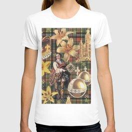 Scotsmen, Tartan & Effemera by Nettwork2Design - Nettie Heron-Middleton T-shirt