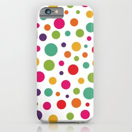 Jolly Colorful Dots iPhone Case