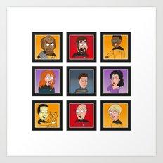 The Family Star Trek Bunch: Next Generation Art Print