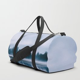 Peaceful blue morning in the crystal clear waters of the river Duffle Bag