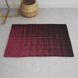 Black maroon mosaic Rug