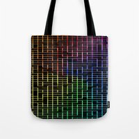 labyrinth Tote Bags featuring labyrinth by hannes cmarits (hannes61)