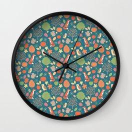 Rustic Fall Wall Clock