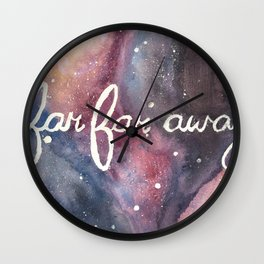 Far Far Away Wall Clock