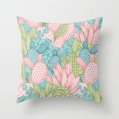 Pastel Cacti Obsession #society6 Throw Pillow