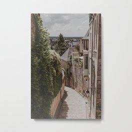 French Street Blois | Fine Art Travel Photography Metal Print