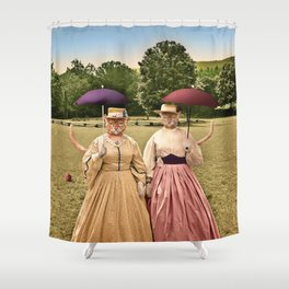 Two Pretty Kitties: Out for a Stroll Shower Curtain