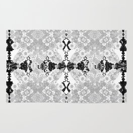 Delicate Castle Curtain Lace Rug
