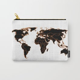 Black wolrd map Carry-All Pouch