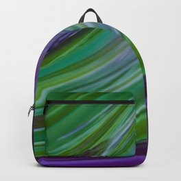 Purple Green Contemporary Abstract Backpack
