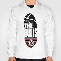 chicago bulls Hoodies featuring THE BULLS  by Robleedesigns
