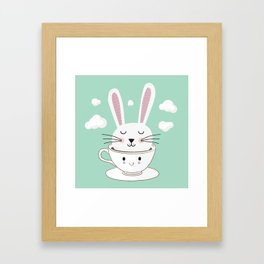 Take a Cup of Bunny Framed Art Print