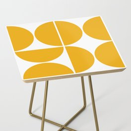 Mid Century Modern Yellow Square Side Table
