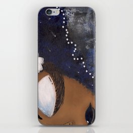 Blue and White Sassy Girl  iPhone Skin