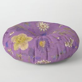 Purple dark floral Floor Pillow