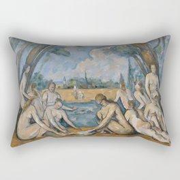 Camille Pissarro - Large Bathers Rectangular Pillow