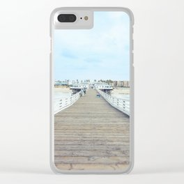 Beach Pier San Diego California Clear iPhone Case