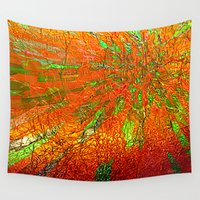 metallic Wall Tapestries featuring Metallic sun by Lydia Cheval