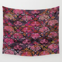 damask Wall Tapestries featuring Damask Modern  by Jaylin F.