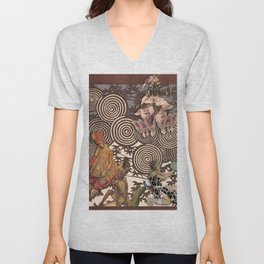 Dawn at The Ballets Russes Unisex V-Neck