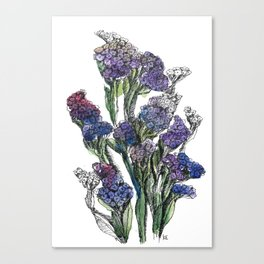Puprle fflowers Canvas Print